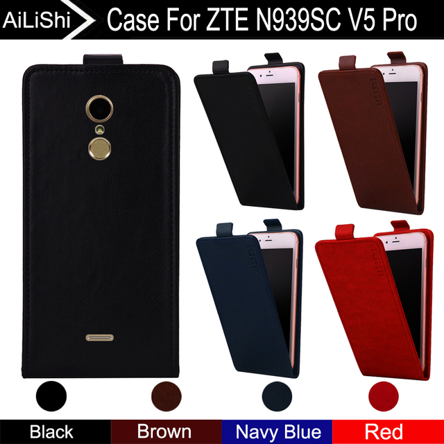 AiLiShi For ZTE N939SC V5 Pro Case Up And Down Vertical Phone Flip Leather Case V5 Pro Phone Accessories 4 Colors Tracking !