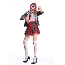 abbille zombie school girl uniform vampire costumes cosplay halloween costume for adult carnival costumes for women