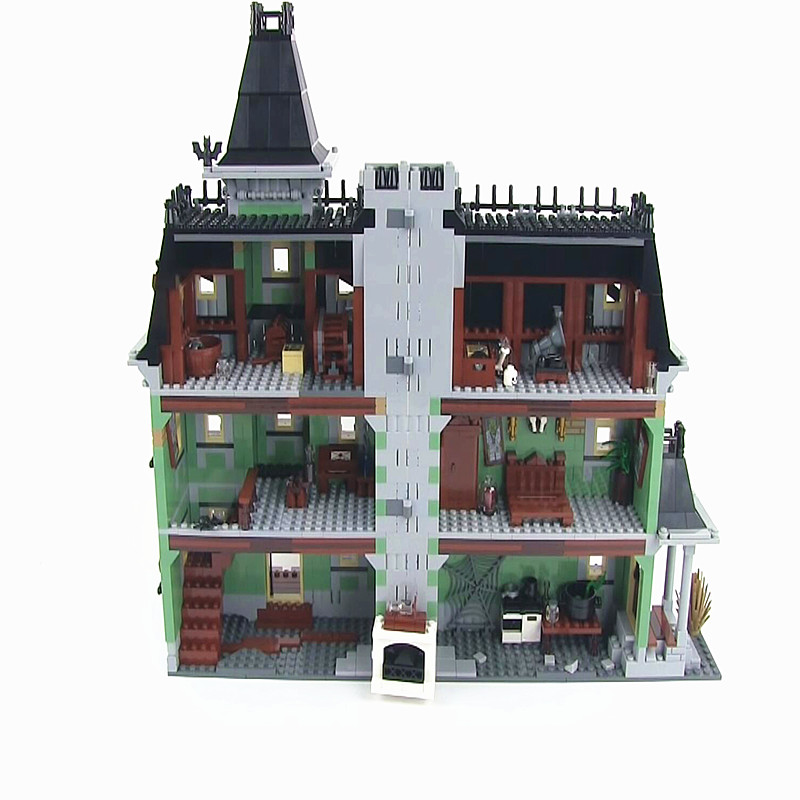 16007 Haunted House 2141Pcs Building Blocks Architecture Movie City Street House 10228 Halloween Gift Toys Bricks