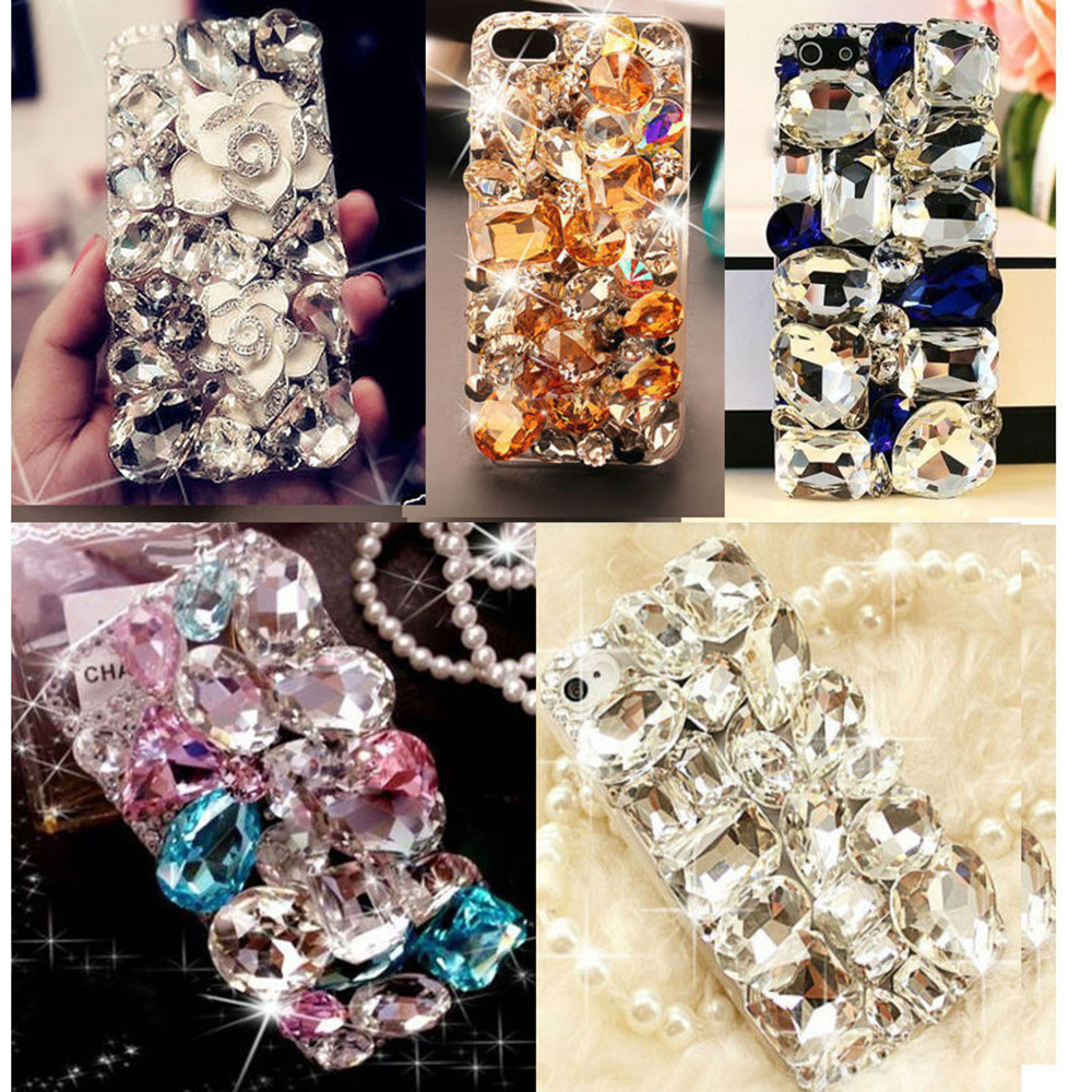 Cute 3d Bling Crystal Diamonds Rhinestone Hard Back Case