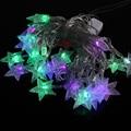 5 M 26 Estrellas LED Pentagram Hadas de la Secuencia Luz de Navidad Del Banquete de Boda de Vacaciones Decoración de La Lámpara de LA UE Plug enfeites de natal