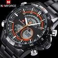 Homens relógios de luxo da marca naviforce wwatches para homens analógico digital de dupla afixação relógio eletrônico relógios de quartzo 30 m à prova d' água