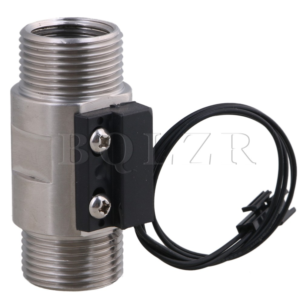 BQLZR 110V 1 Male Thread 304 Stainless Steel Water Flow Switch Start Flow 0.75L/min stainless steel 20mm male thread pressure transmitter 0 0 2mpa dc 24v