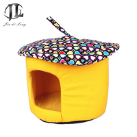 2018 Mushroom Pet Lovely Cons Picuous Style House Pet Nest Plus Velvet Canvas Built For Guests, Chihuahua, Fawn dog, Mini dog
