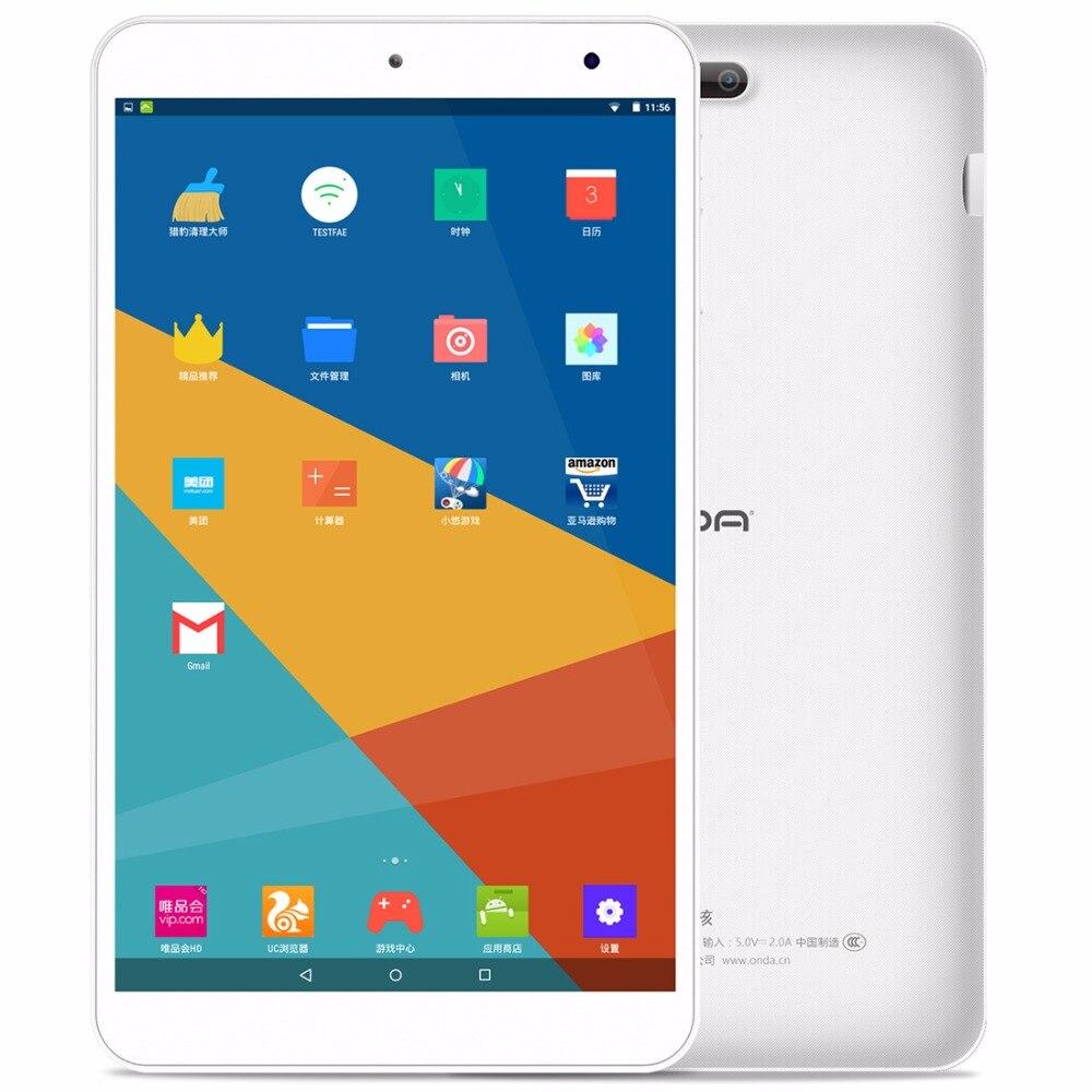 bilder für Original 8,0 zoll ONDA V80 AllWinner A64 Quad Core Tablet 1 GB/8 GB Android Lutscher 5,1 OS Tablet PC