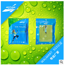 50 Pcs lot All Cool Ice Towel 100 30cm Color OPP Bag Pack Cold Towel Summer