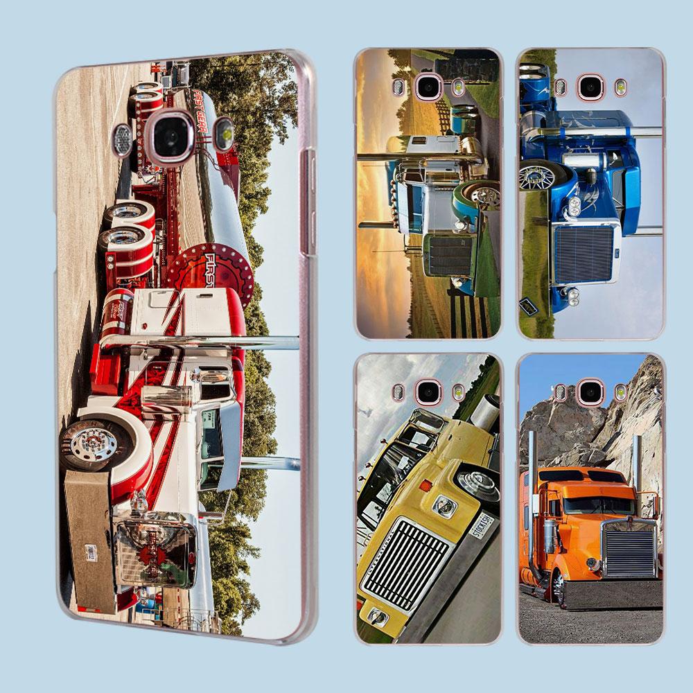 Greatest Peterbilt Trucks transparent clear hard case cover for Samsung Galaxy J1 J2 J3 J5 J7Prime J7 J510 J710 2016