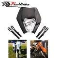 O ENVIO GRATUITO de 4 cores Da Motocicleta Da Bicicleta Da Sujeira do Motocross KTM SX EXC Supermoto Carenagem de Farol Universal