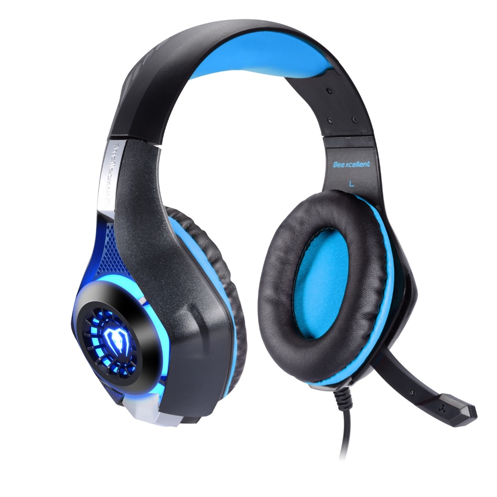 Game Headset, 3.5mm LED Light Gaming Headphones with Microphone For Laptop Tablet / PS4 / Mobile Phones g1100 3 5mm pro gaming headset headphone for ps4 laptop crack pattern led led blue black red white