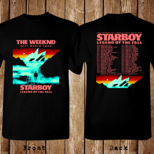 The Weeknd World Tour Dates 2017 Size S-5XL T-shirt