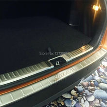 For 2015 2016 Suzuki Vitara Stainless Steel Rear Bumper Trunk Threshold Door Sill Protector Cover Trim Car Styling Accessories