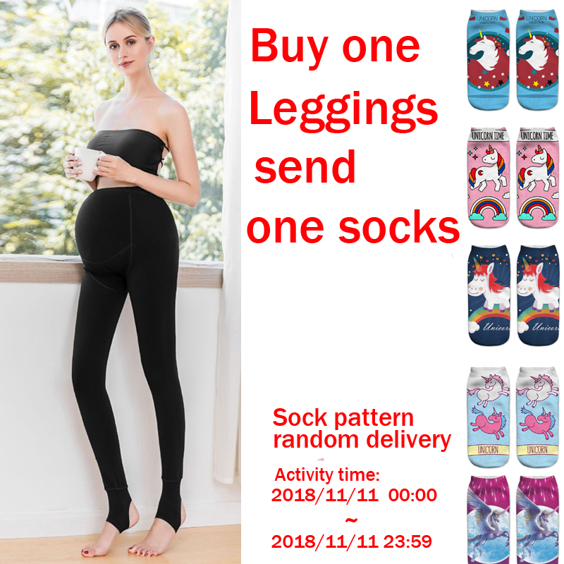 Pregnancy Leggings Maternity Winter Pants for Pregnant Women Maternity Clothes Pantyhose Black Stockings Trousers Cotton