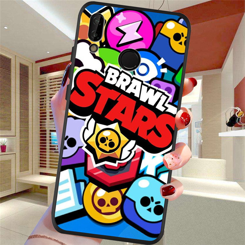 brawl stars For Huawei P8 P10 P20 P30 Mate 10 20 Honor 8 8X 8C 9 V20 20i 10 Lite Plus Pro Case Cover Coque Etui Funda Capa shell in Half wrapped Cases from Cellphones Telecommunications