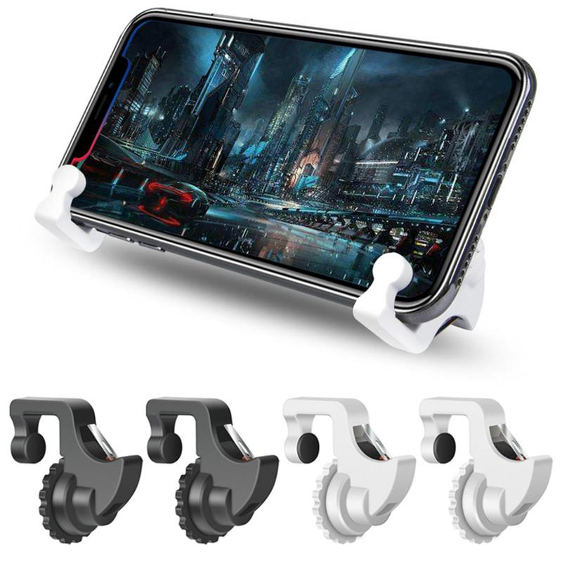 1Pair Gaming Trigger Smart Phone Games <font><b>Shooter</b></font> Controller Fire Button Handle For PUBG/Rules of Survival/Knives Out L1 R1 UM image