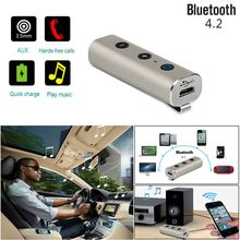 VOBERRY Handsfree 3.5mm Jack Assist Bluetooth Audio Receiver Adapter MP3 Music Auto Wireless Bluetooth Car Kit(China)