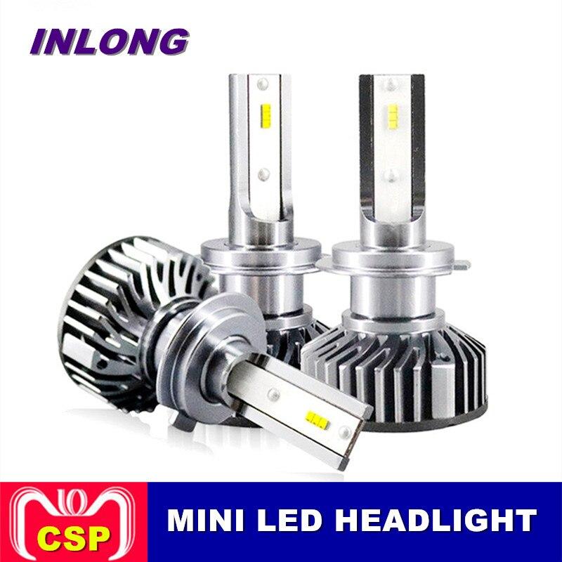 Inlong 2 Pcs Voiture Phare H4 LED H7 H1 H11 880 9005 9006 60 W 12000LM 6000 K Voiture LED auto Phare Phare Brouillard De Voiture Accessoires