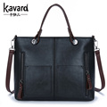 wax oil leather bag shoulder ladies hand bags women PU leather handbag sac 2016 woman bag handbags women famous brand sac a main