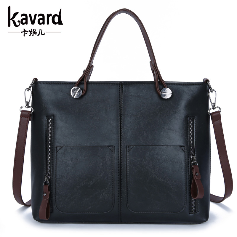 wax oil leather bag shoulder ladies hand bags women PU leather handbag sac 2017 woman bag handbags women famous brand sac a main proffi ps 0132