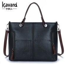 wax oil leather bag shoulder ladies hand bags women PU leather handbag sac 2017 woman bag