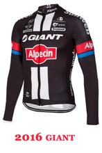 Giant Pro Team Men's 2014 Winter Thermal Fleece Cycling Jersey Long Sleeve Tour De France Jacket Clothing Ciclismo Invierno