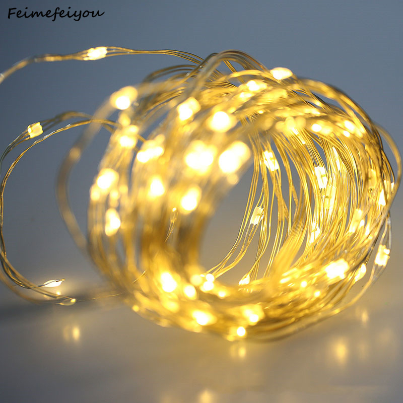 2/3/5/10M Copper Wire LED String Lights Holiday lighting Fairy light String Garland For Christmas Wedding Party Decoration