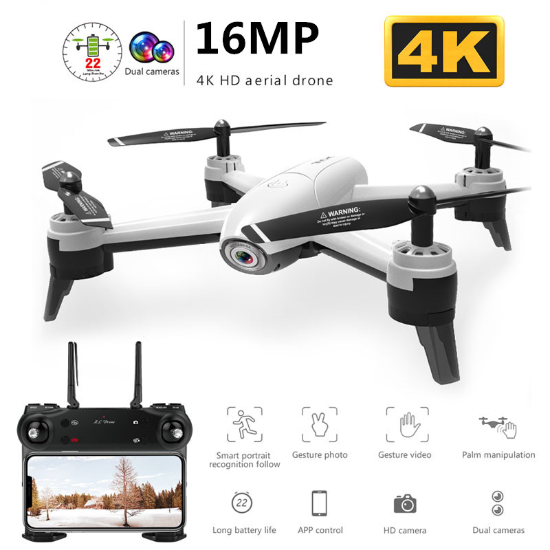 Hot sale 4K Camra WiFi FPV RC Drone with 720P / 1080P HD Dual Camera Optical Flow Aerial Video RC Quadcopter for Toys RC Dron image