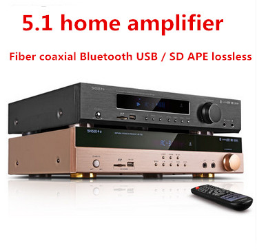 AP-702/AP-708 600W 5.1 Channels Bluetooth home amplifier Karaoke home theater Fiber coaxial Bluetooth USB / SD APE lossless AMP 2018 lpa50 600w fihi av 5 1 channel home theater bluetooth 4 0 digital audio amplifier with fiber coaxial usb sd lossless player