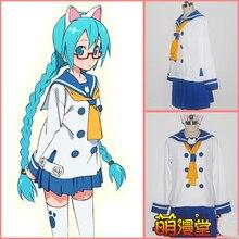 Vocaloid Hatsune Miku Vocaloid cos traje de marinero gato uniforme escolar cosplay traje adulto animado ropa