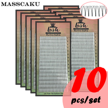 משלוח חינם 16 קווים 8 16 או מעורב 0.07/0.1/0.15mm Premade אוהדי ריסים מראש עשה רוסית נפח ריס הרחבות ארוך