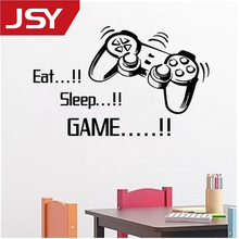 Jiangs Yu 1 PC Gamer Stickers Art Wall XBOX Boys Bedroom Letter DIY Kids Rooms Decoration Decals