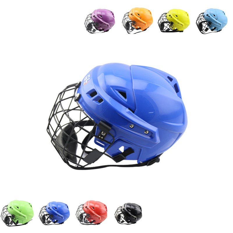 CE approved hot sale ice hockey helmet with great foam hockey skates player face mask magideal ice hockey helmet soft eva liner with cage for player hockey face shield xs s m l xl