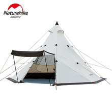Naturehike 4/6/8 Person Camping Family Tent Pyramid Waterproof Double Layer Outdoor Tourist Big Party NH17T200-L