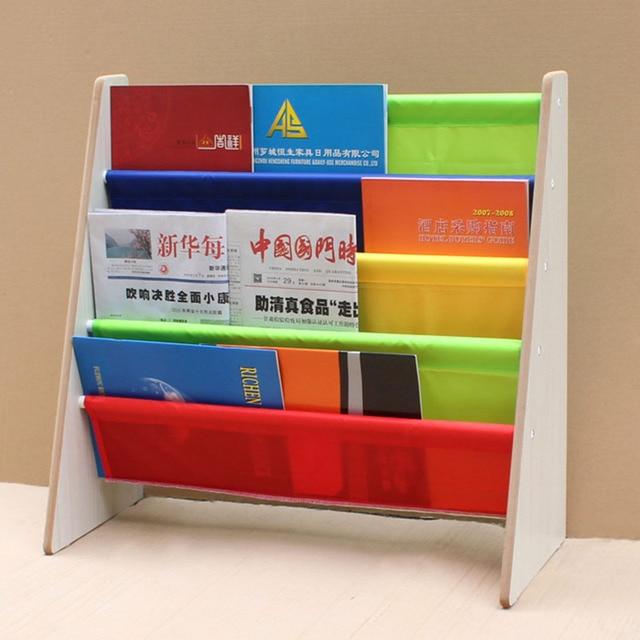 Magazine Newspaper Holder Home Storage Rack Assembled Bookshelves ...