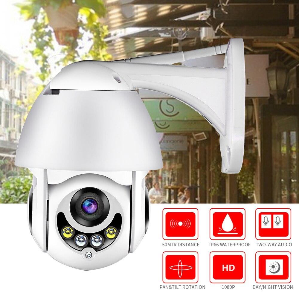 WIFI Camera Outdoor HD 1080P 2MP IP Camera Wireless PTZ Speed Dome CCTV Security Cameras IP66 Two Way Audio Surveillance SD Card