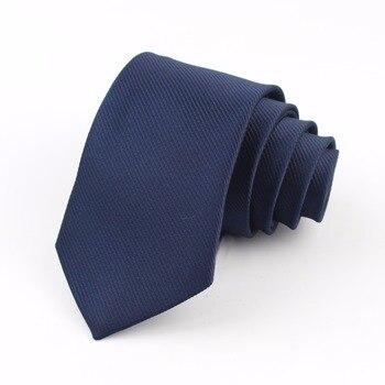 Formal Skinny Size Necktie 2.5inch Groom Gentleman Narrow Ties Men Wedding Party Polyester Gravata 6cm Width