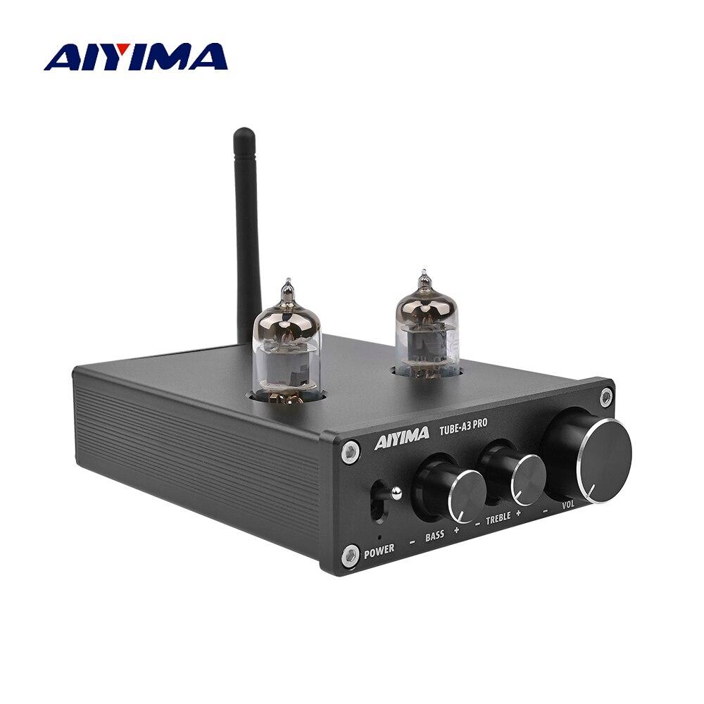 AIYIMA Amplificador Bluetooth 5 0 6J1 Vacuum Tube Pre Amplifier 12V Home Audio Preamplifier Preamp AMP