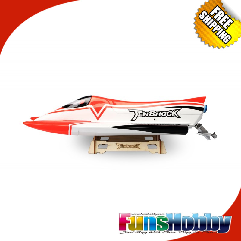 Tenshock F1 Formula RTR RC Racing Boat High Speed Remote Control Electric Boat 4 Pole Motor Waterproof 60A ESC 4800mah 11v Lipo 30a esc welding plug brushless electric speed control 4v 16v voltage
