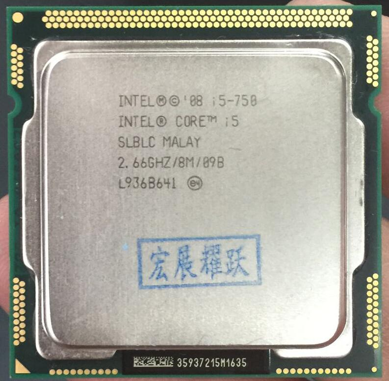 Intel Core I5-750 I 5 750  Processor (8M Cache, 2.66 GHz) LGA1156 Desktop CPU 100% Working Properly Desktop Processor
