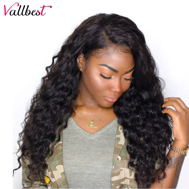 Vallbest Deep Wave U Part Human Hair Wigs 150% Density Remy Brazilian Wigs  For Black Women 4 4 Lace Wig With Baby Hair Free Ship 956bf7fed