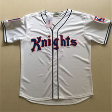 Knights 2017 Gefex Roy Hobbes # 9 New York natural grey film suture baseball jersey buttons individuality leisure shirt crime se