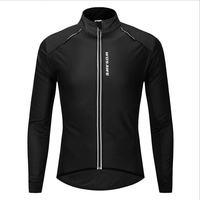 2019 Autumn and winter PU wallet overcome Technology Windproof and rain protection Cycling Jersey long sleeve protection