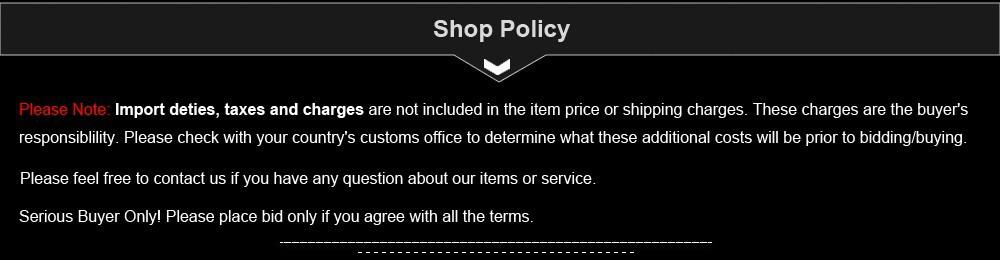 Shop Policy