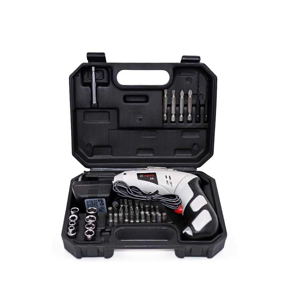 GOXAWEE 4.8V Mini Electric Screwdriver Drill Rechargeable Cordless Screwdrivers Lithium Battery Household DIY Tools Sets