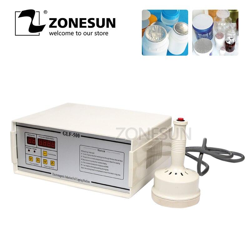 ZONESUN GLF 500 Алюминий машина для склеивания фольги Пластик машина для герметизации бутылок перетащите прибор для запайки бутылок