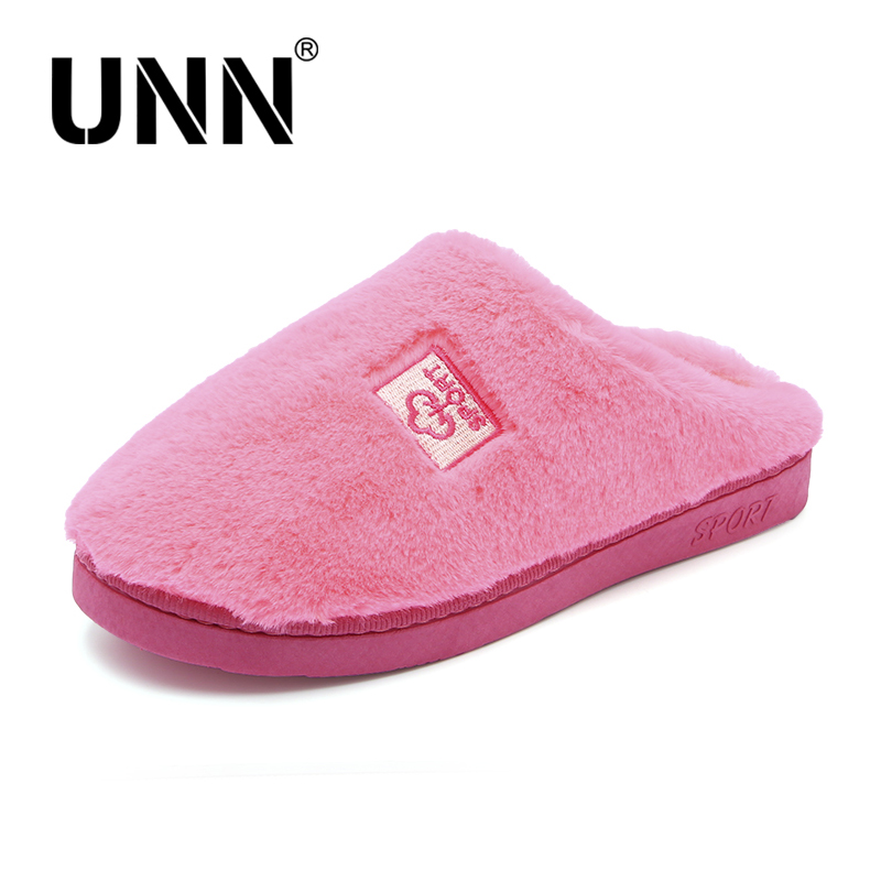 UNN New Indoor House Slipper Soft Cotton Cute Slippers Shoes Non-Slip Floor Home Furry Slippers Couple Shoes Plush Size 5-10 lcizrong women brown bear plush home slippers non slip large size family animal slipper woman indoor shoes house slippers