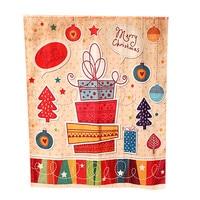 2016 Hot Sale Custom Merry Christmas Fabric Waterproof Bathroom Shower Curtain Gift Wholesale High Quality