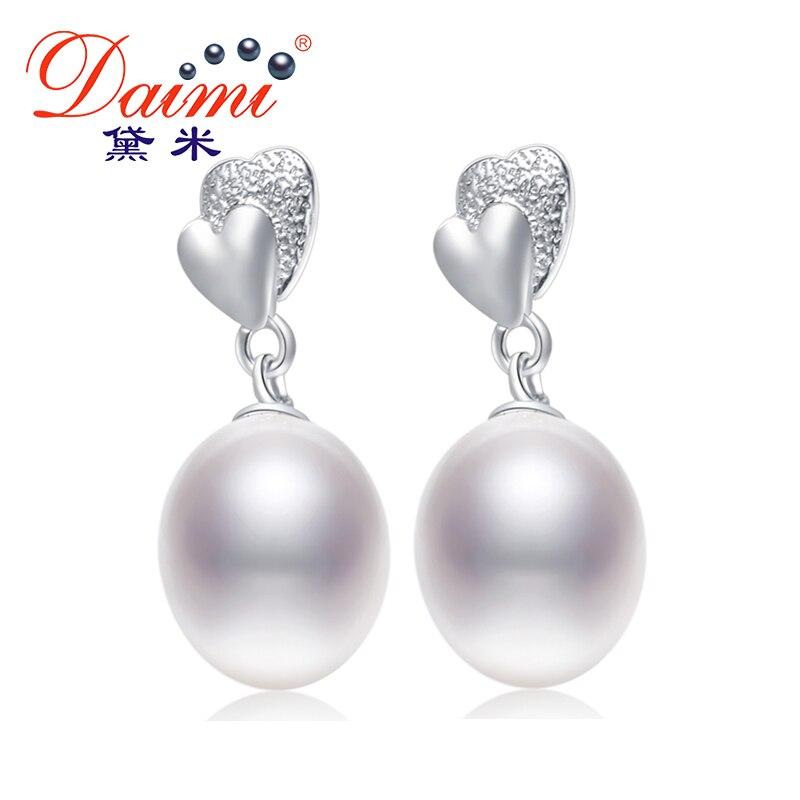 Begeistert 2018 Verkauf 925 Silber Ohrringe 8-9mm Perlen Ohrringe Neue Natürliche Perle Ohrringe Zuchtperlen Ohrringe Exzellente QualitäT