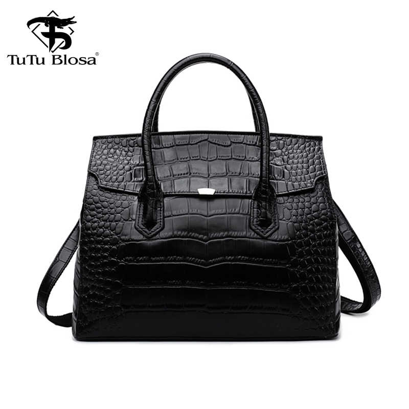 442d29fbb8 Luxury Women Handbags Quality Leather Crocodile Pattern Ladies Shoulder Bag  Casual Tote Bags Women Retro Large