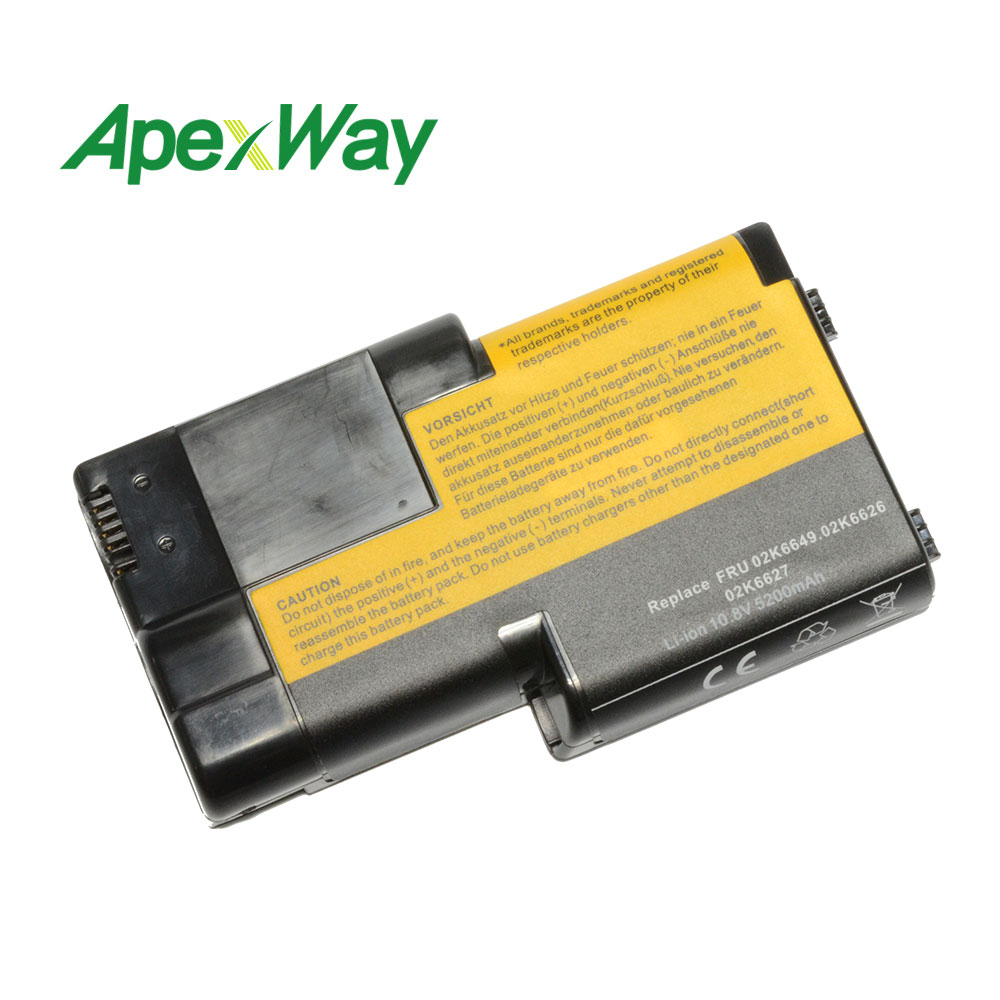 ApexWay 4400mAh Laptop Battery For IBM  ThinkPad T21,T20 T22, T23, T24, T20 Series 02K6620, 02K6621, 02K6649, 02K7025, 02K7026,