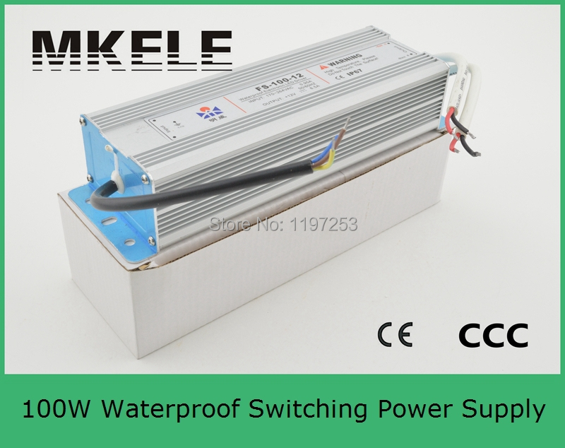 ФОТО professional manufacturer ip67 single output 12v power supply waterproof driver 100w 12v FS-100-12 8.5A